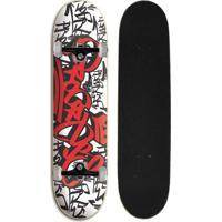 Skate Completo Iniciante Progress - Pgs Tag Vermelho - Unissex