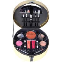 Maleta De Maquiagem Fenzza Fz40012 Make Up Chic Collection Dourada - Kanui