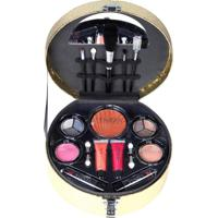 Maleta De Maquiagem Fenzza Fz40012 Make Up Chic Collection Dourada