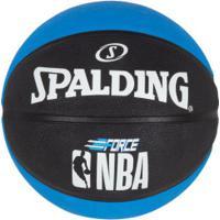 Bola De Basquete Spalding Nba Force - Azul/Preto
