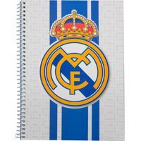 Caderno Foroni Real Madrid Branco 1 Matéria
