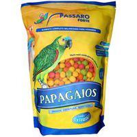 Ração Para Pássaros Pássaro Forte Mistura Para Papagaios Maritacas, Jandaias E Ring Necks 1Kg
