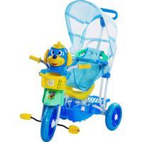 Triciclo Gangorra Infantil Bel Brink Cabeça De Cachorro Azul