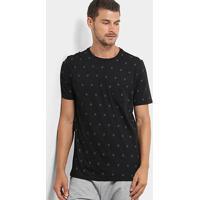 Camiseta Burn Full Print Hashtag Masculina - Masculino-Preto