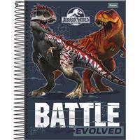 Caderno Espiral Foroni Capa Dura Jurassic World 96 Folhas