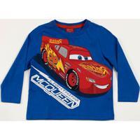 Camiseta Infantil Manga Longa Estampa Carros Disney