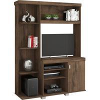 Estante Para Home Theater E Tv 32 Polegadas Leticia Plus Café 130 Cm