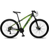 Bicicleta Aro 29 Quadro 19 Alumínio 24 Marchas Freio Disco Mecânico Z4-X Preto/Verde - Dropp