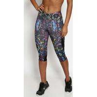 Legging Corsã¡Rio Abstrata- Preta & Pink- Physical Fiphysical Fitness