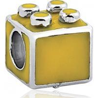 Berloque / Pingente Prata Lego Amarelo Encanto