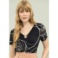 Blusa Piercing Estampa Queensland - Lez A Lez