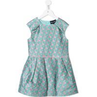 Emporio Armani Kids Vestido Com Estampa Geométrica - Verde