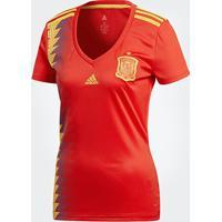 Camisa Seleção Espanha Home 2018 S/N° Torcedor Adidas Feminina - Masculino