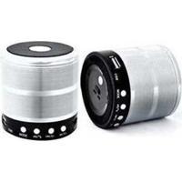 Caixa De Som Bluetooth Mini Speaker Space Line Ws-887 Prata