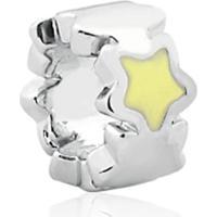 Pingente De Prata 925 Charms De Estrela Amarela