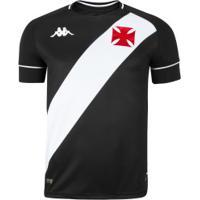 Camisa Do Vasco Da Gama I 2020 Kappa - Masculina - Preto/Branco