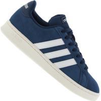 Tênis Adidas Grand Court - Masculino - Azul Esc/Branco