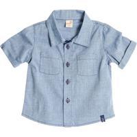 Camisa Com Botãµes- Azul Clarogreen