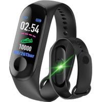 Smartband Monitor Cardíaco Em Bluetooth M3 Preto