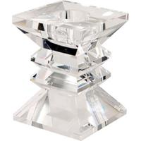 Castiçal De Cristal Zig Zag P Para 1 Vela