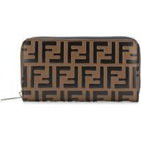Fendi Carteira Com Logo Ff - Marrom
