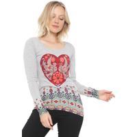 Suéter Desigual Thin Gauge Pullover Cinza