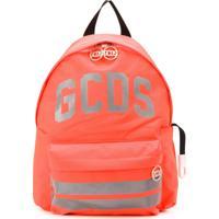 Gcds Kids Mochila Com Logo Reflexivo - Laranja