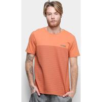 Camiseta Mood Striped Masculina - Masculino-Laranja