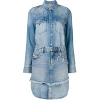 Diesel Chemisier Dress With Mini Skirt - Azul
