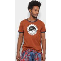 Camiseta Colcci Open Road Masculina - Masculino-Marrom