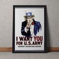 Quadro Decorativo I Want You Estados Unidos 35X25