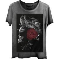 Camiseta Estonada Gola Canoa Corte A Fio Punk Star