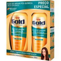 Kit Niely Gold Óleo De Argan Pós Química Kit - Shampoo + Condicionador - Unissex-Incolor