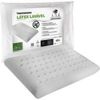 Travesseiro Fibrasca Latex Plus Sintético Lavável 50X70Cm Branco