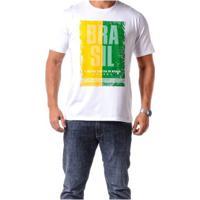 Camiseta Braziline Manga Curta Brasil Tietê Adulto Masculina - Masculino