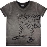 Blusa Tigre- Cinza Escuro & Pretapuc