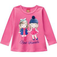 "Blusa ""Best Friends""- Rosa & Azul Escurokyly"