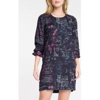 Vestido Ml Curto Full Viscose Building - Preto - 36