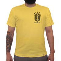 Cbf (Brasão Preto) - Camiseta Clássica Premium Masculina