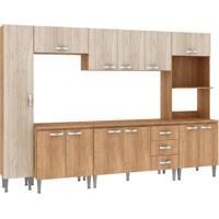 Cozinha Compacta Master 12 Pt 3 Gv Carvalho Com Blanche