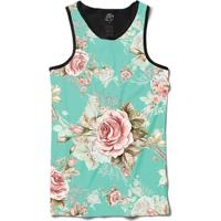 Camiseta Bsc Regata Flowery Sky Full Print - Masculino