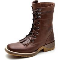 Bota Top Franca Shoes Texana Tabaco