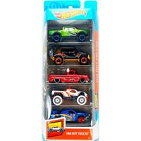 Pack Com 5 Carrinhos Hot Wheels Hw Hot Trucks - Mattel