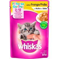 Ração Para Gatos Whiskas Filhotes 2-12 Meses Sachê Sabor Frango Ao Molho Com 85G