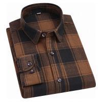 Camisa Xadrez Anthony Masculina - Marrom