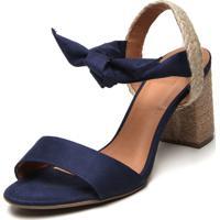 Sandália Bebecê Corda Azul-Marinho
