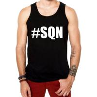 Camiseta Regata Criativa Urbana Hashtag Sqn Nerd Geek - Masculino