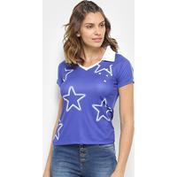 Camisa Cruzeiro 1997 S/N° Feminina - Feminino-Azul