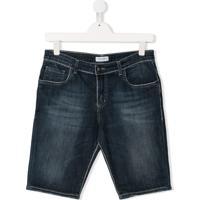 Paolo Pecora Kids Bermuda Jeans - Azul
