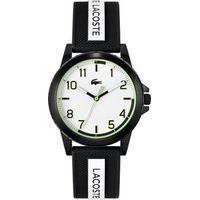 Relógio Lacoste Infantil Borracha Preta E Branca 2020141